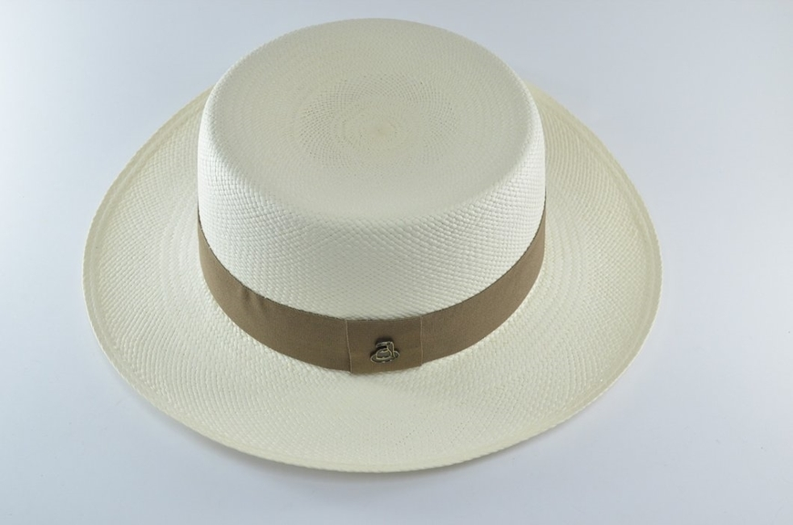 Picture of Boater Panama Hat - White