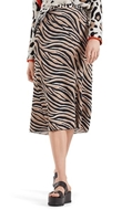 Picture of Marc Cain - Midi Skirt With Zebra Design