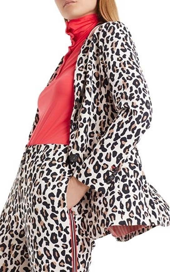 Picture of Marc Cain - Flowing Blazer with Leopard Print
