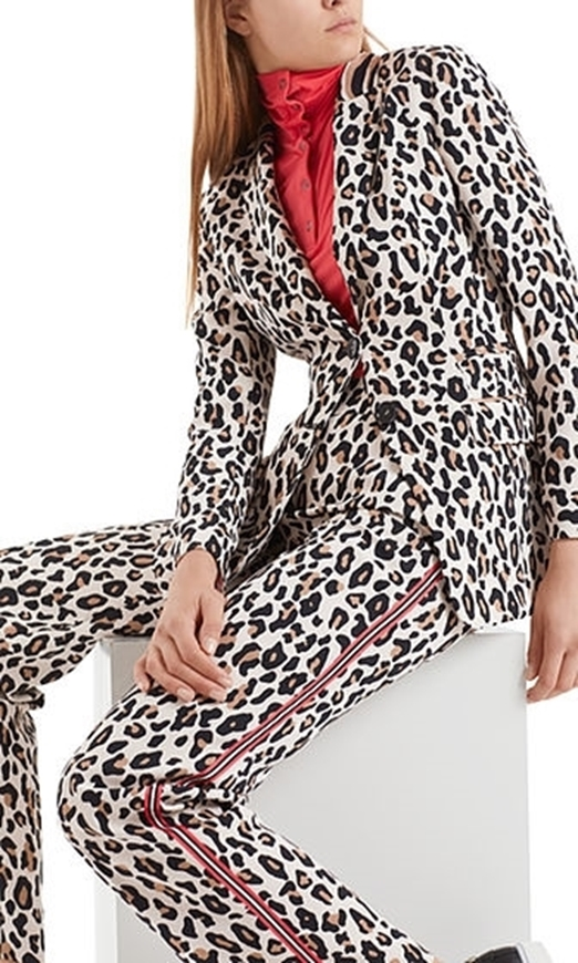 Picture of Marc Cain - Loose Pants in Leopard Design