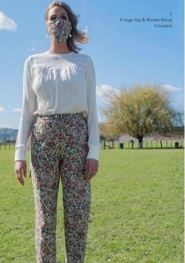 Picture of Sheryl May - Winter Floral Trousers
