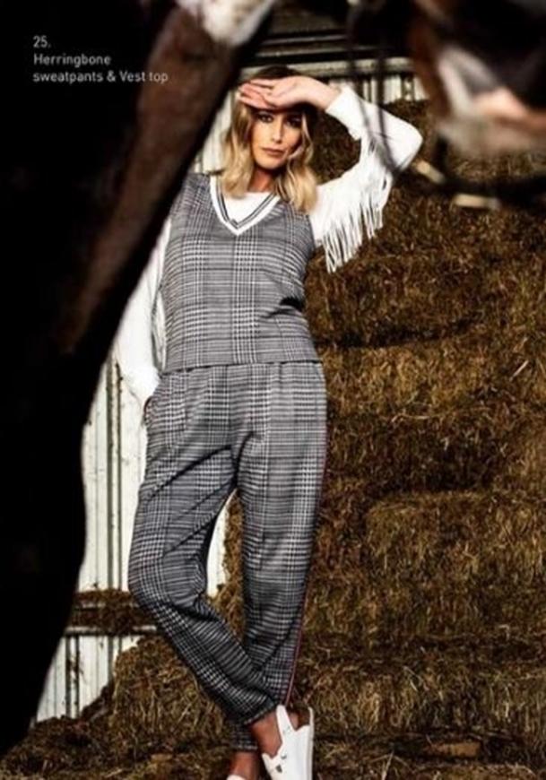 Picture of Sheryl May - Herringbone Sweatpants