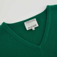Picture of Aleger - Cashmere Blend V Neck Oversized Sweater