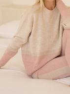 Picture of Aleger Cashmere - Cashmere Blend Ombre Detail Sweater