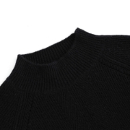 Picture of Aleger Cashmere - Bobble Knit Lantern Sleeve Boxy Sweater