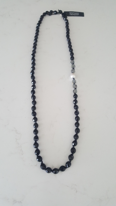 Picture of Bronwen Newport - Black Swarovski Crystal Jet Necklace