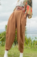 Picture of Sheryl May - Linen/Cotton Baggy Trousers
